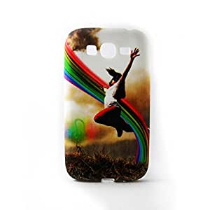 AVC Graphik Jumping Girl Soft TPU Back Case Cover for Samsung Galaxy Grand I9082 Mobile Cell Phone (Multicolor)