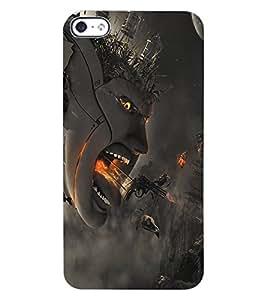 ColourCraft Creative Creature Design Back Case Cover for APPLE IPHONE 4