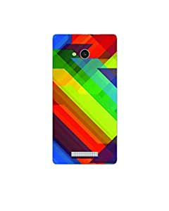 GripIt Rainbow Pattern Printed Case for Lava A59
