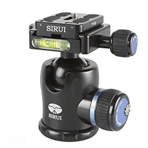 Sirui K-10X Rotule en aluminium 33 mm Charge maximale 20 kg Poids 350 g Fonction panorama 360° Plaque Arca-Swiss incluse