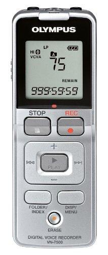 Olympus VN-7500 - Digital voice recorder - flash 2 GB - SubBand - display: 1.36