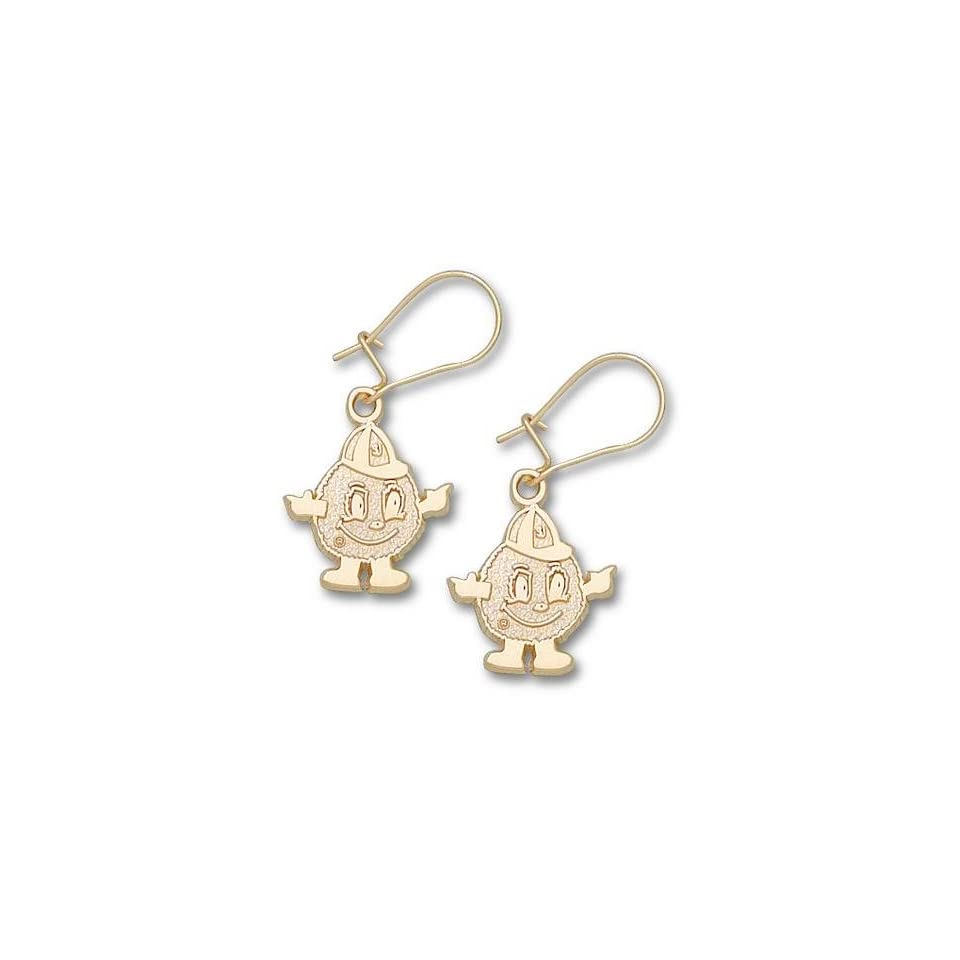Syracuse Orangemen Mascot Dangle Earrings   10KT Gold Jewelry