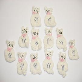 12 Mohair Cat Crochet Pink Bow