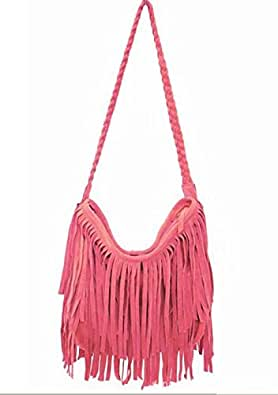 New Women's Hot Sale Suede Fringe Handbags Women's Fashion Tassel Shoulder Bag Messenger Bags Handbags