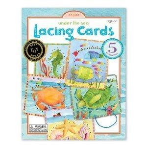 Eeboo Under the Sea Lacing Cards - 1