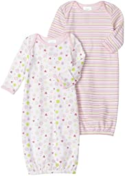Spasilk 2 Pack Gown - 2 Girl Prints, Pink,  0-3 Months