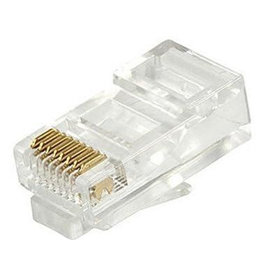 Foxnovo 100pcs RJ45 Cat5e Cat5 Network Cable LAN Crimp Connectors Ends Plugs Set