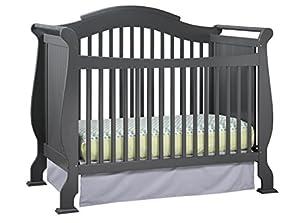 Stork Craft Valentia Convertible Crib, Gray