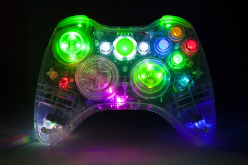 Color-Changing Led Xbox 360 Modded Controller (Rapid Fire Mod) Mw3 Black Ops Mw2 Custom Leds