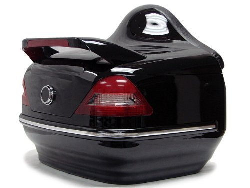 Find Discount Universal Black Motorcycle Scooter Touring Hard Trunk Top Case with Tail Light for Har...