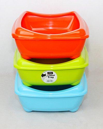 clean-n-tidy-cat-kitten-litter-tray-fun-with-rim-42cm-orange