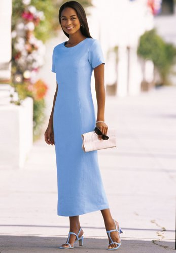 Buy Linen/Rayon Long column sheath