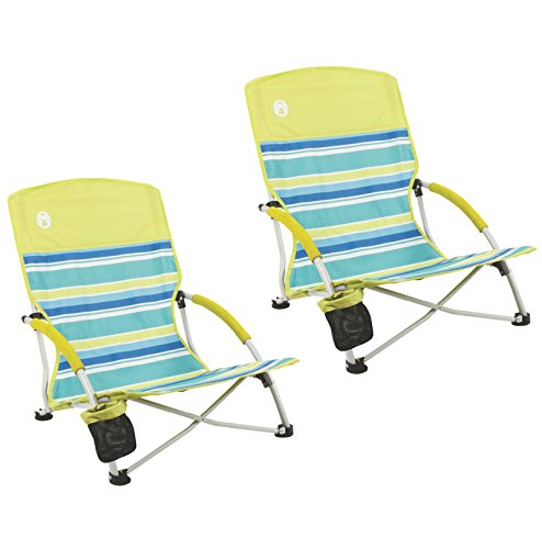 (2) Coleman Utopia Breeze Beach Sling Chairs w/ Carry Bag | 2000019265 (Coleman Breeze compare prices)