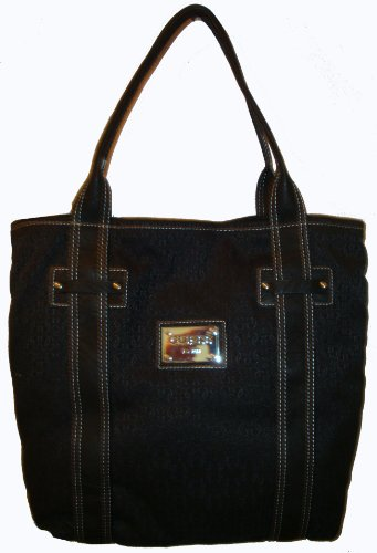 Guess Founder's Tote in Coal (Black) (GUESS HANDBAGS, PURSES, BAGS)