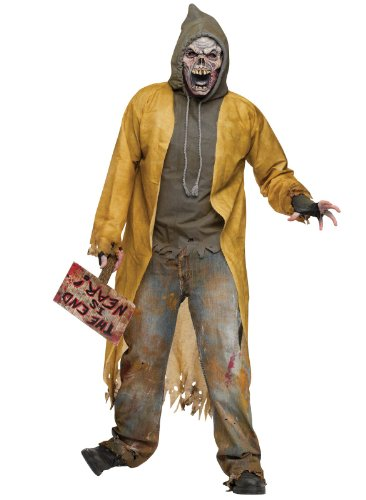 FunWorld Street Zombie Complete, Black/White, One Size Costume