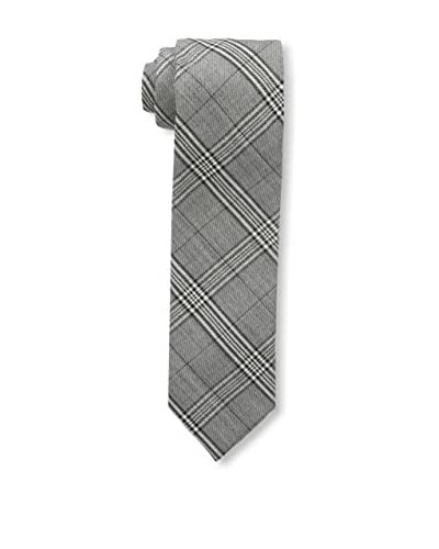 Bruno Piattelli Men's Slim Plaid Tie, Black