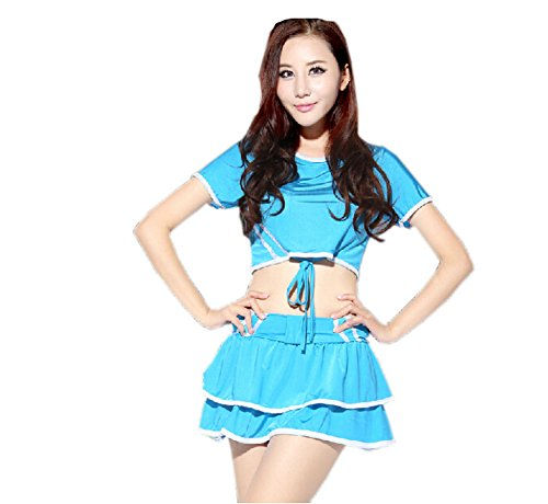 Cheerleader Costume/ Cheerleading Uniform/ Athletic Clothing Size L (BLUE)