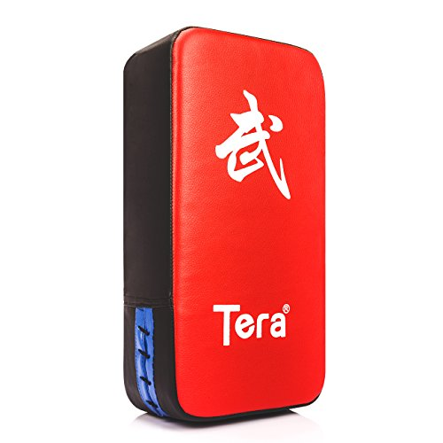 Tera PU Leather Rectangle Kicking Strike Punching Pad Arm Shield Target for Focus Training of Karate Muay Thai Kick Boxing UFC MMA (Boxing Training Target compare prices)