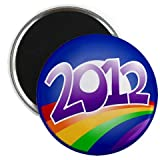 OBAMA Supports Same-Sex Marriage 2012 LGBT Rainbow Campaign Logo 2.25 inch Fridge Locker Magnet