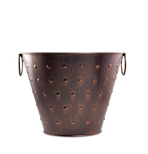 Pennington Décor 100511983 New England Pottery Metal Pot Planter, 15