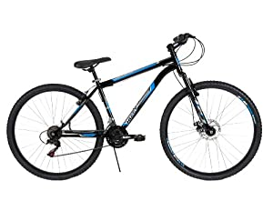 Huffy Bicycle Company Mens Front Suspension Bantam Bike, Gloss Black, 29-Inch by Huffy