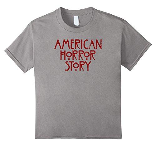 [Kids AHS Mu-rder House, As-ylum, Cov-en, Freak Show, Hotel Shirt 8 Slate] (Ahs Coven Halloween Costumes)