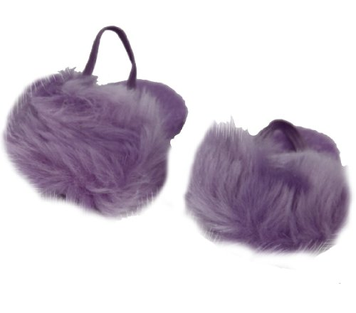 BUYS BY BELLA Purple Fuzzy Slippers for 18 Inch Dolls Like American Girl