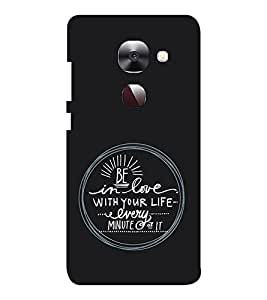 EPICCASE Be in Love Mobile Back Case Cover For LeEco Le Max2 (Designer Case)