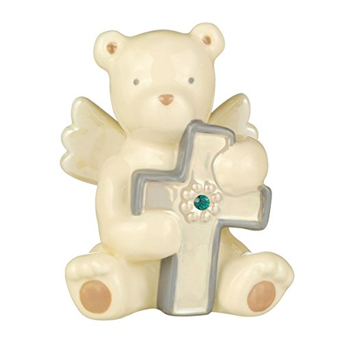 Grasslands Road Baby Blessings Bear Angel with Cross - May