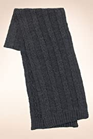 Small Cable Knitted Scarf [T09-4733-S]