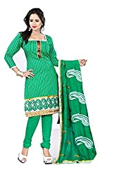 Livaaz Womens Cotton Unstitched Dress Material (Sf100528 _Green)