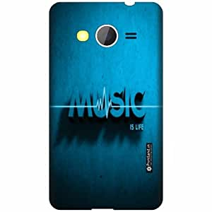 Printland Designer Back Cover for Samsung Galaxy Core 2 - Music Is Life Case Cover