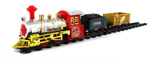 Happy Travels Express 11 Piece Electric Battery Operated Toy Train Set
