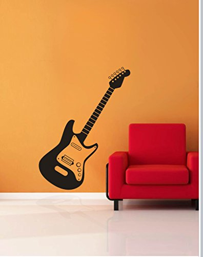 Decor Kafe 'Decal Style Guitar' Wall Sticker( 35*20 inch)  available at amazon for Rs.299