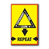 Seven Rays Experiment Fail Learn Repeat Fridge Magnet