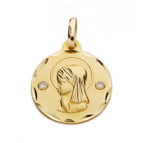 18K yellow gold medal Virgin girl R683