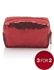 Mini Sequin Embellished Make Up Bag