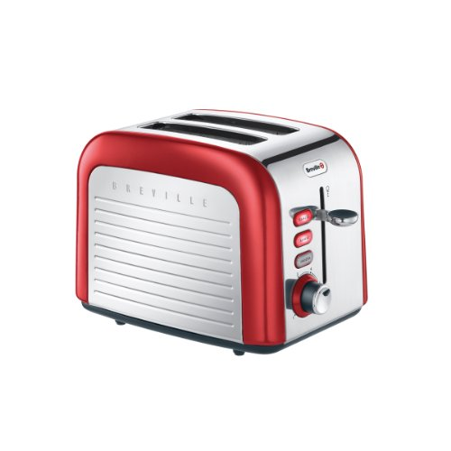 VTT328 Opula 2 Slice Toaster in Stainless Steel & Carnelian Red from BRE