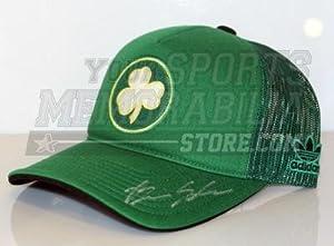 Brian Scalabrine Boston Celtics Signed Celtics Green Hardwood Classics Hat -... by Sports Memorabilia
