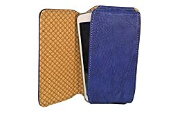 TOTTA PU Leather Hand Pouch For Celkon A112 Signature Swift- Blue
