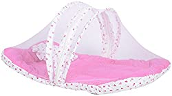 (Summer special offer) Firststep new born baby pink mosquito net bed for your little baby(0-9 months)