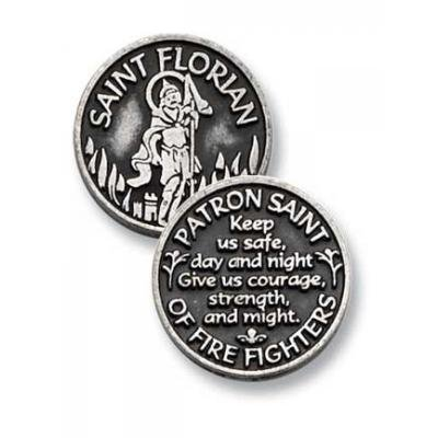 Cathedral Art PT406 Saint Florian Pocket Token, 1-Inch - 1