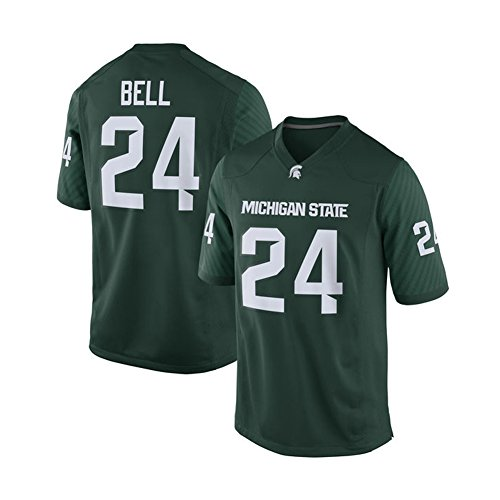NCAA Men's #24 Le'Veon Bell Green Michigan State Spartans Alumni College Football Game Jersey L (Miami College Football Jersey compare prices)