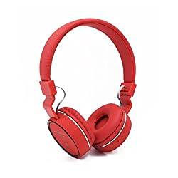 Micomy SH10 Bluetooth Wired and Wireless overear headphone with Aux cable connector -Red