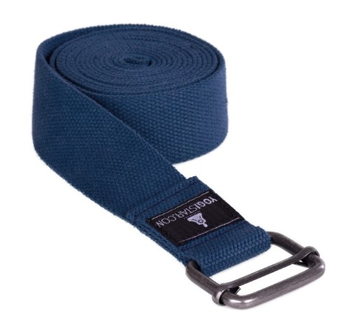 Yogistar Yogagurt - 260 cm - Metallverschluss - Navy Blue