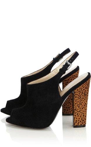 Leopard & Suede Sandal