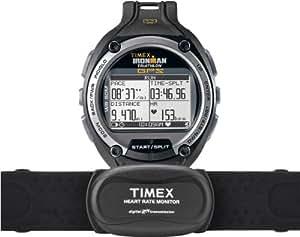 Timex - T5K444 - IRONMAN Global Trainer - Montre Sport Homme - Quartz - Digitale - Heart Rate Monitor-ordinateur de plein air-boussole et GPS-altimètre-capteur de profondeur - Bracelet Caoutchouc Noir