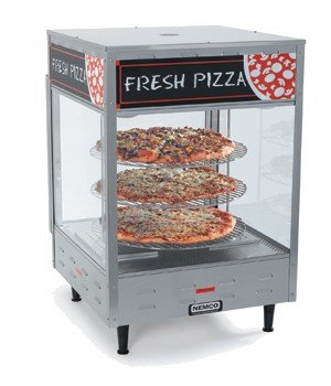 Nemco Food Equipment Rotating 3 Tier Self Serve Pizza and Hot Food Display Case, 22.25 x 22.25 x 33.875 inch -- 1 each.