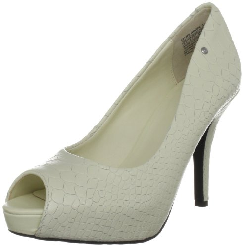 Rockport Women's Sasha Peep Toe Pump Cream Open Toe K61568 7 UK