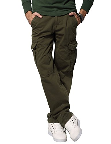 Match Men's Ranger Work Wear Utility Tough Cargo Pants(US 32 (Tag size XL/34),6516 Dark army green) (Ranger Combat Pants compare prices)